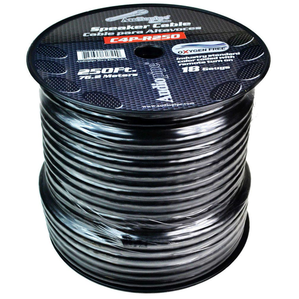 Audiopipe 9 Conductor 18 Gauge 250 Feet Speed Cable