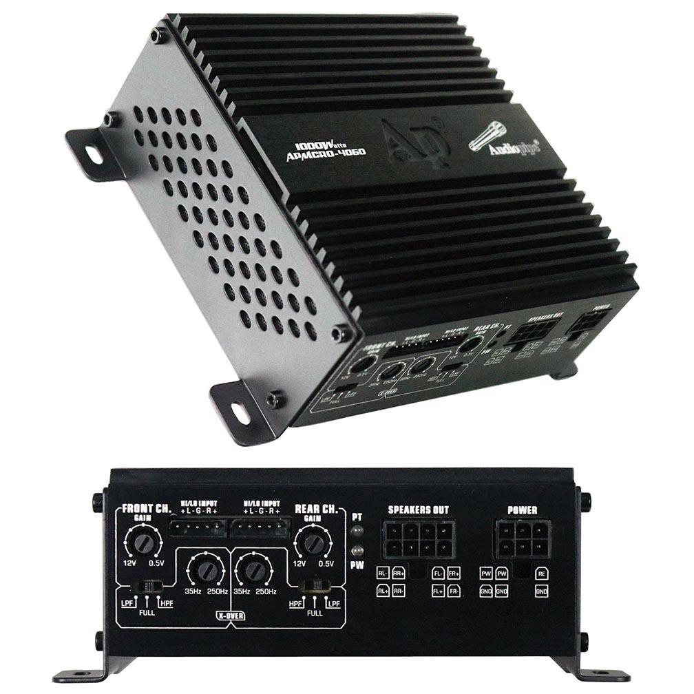 Audiopipe Micro 4 Channel Amplifier 1000W Max