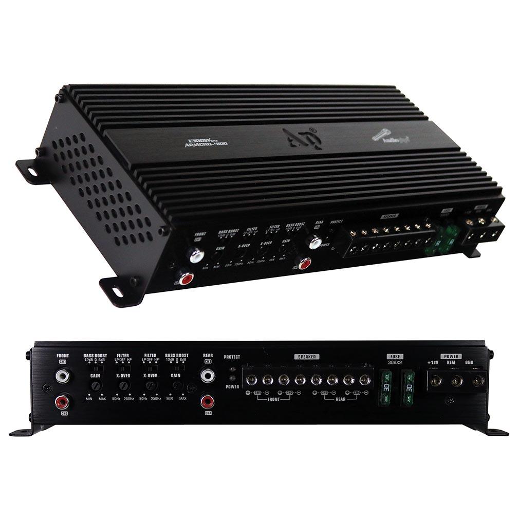 Audiopipe Micro 4 Channel Amplifier 720W RMS/1300W MAX