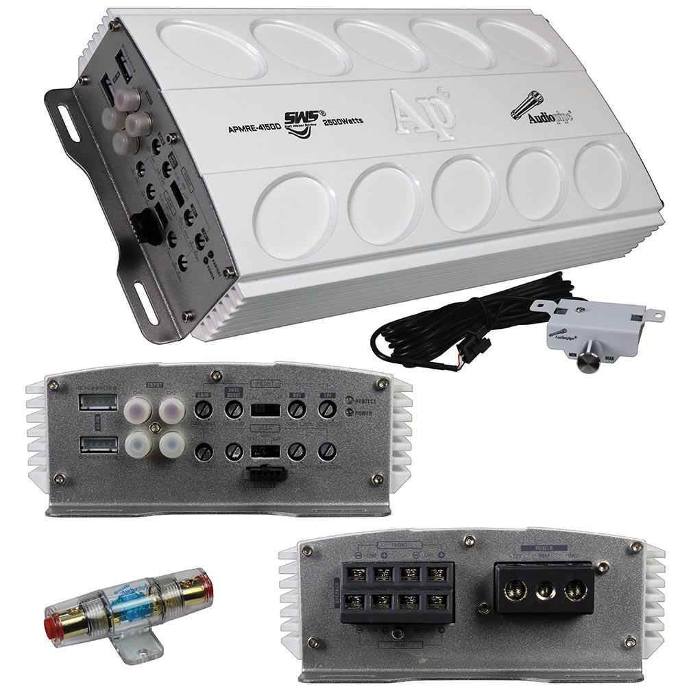 Audiopipe Mini Design 4 Channel MOSFET Marine Amplifier 2500 Watts Max