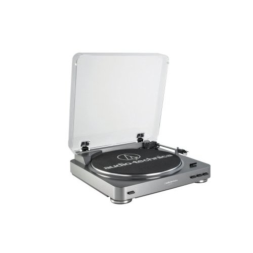 AUDIO TECHNICA AT-LP60 Fully Automatic Belt-Drive Turntable (Silver)