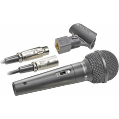Audio-Technica ATR-1500 ATR Series Dynamic Vocal/Instrument Microphone (Cardioid, ATR1500)