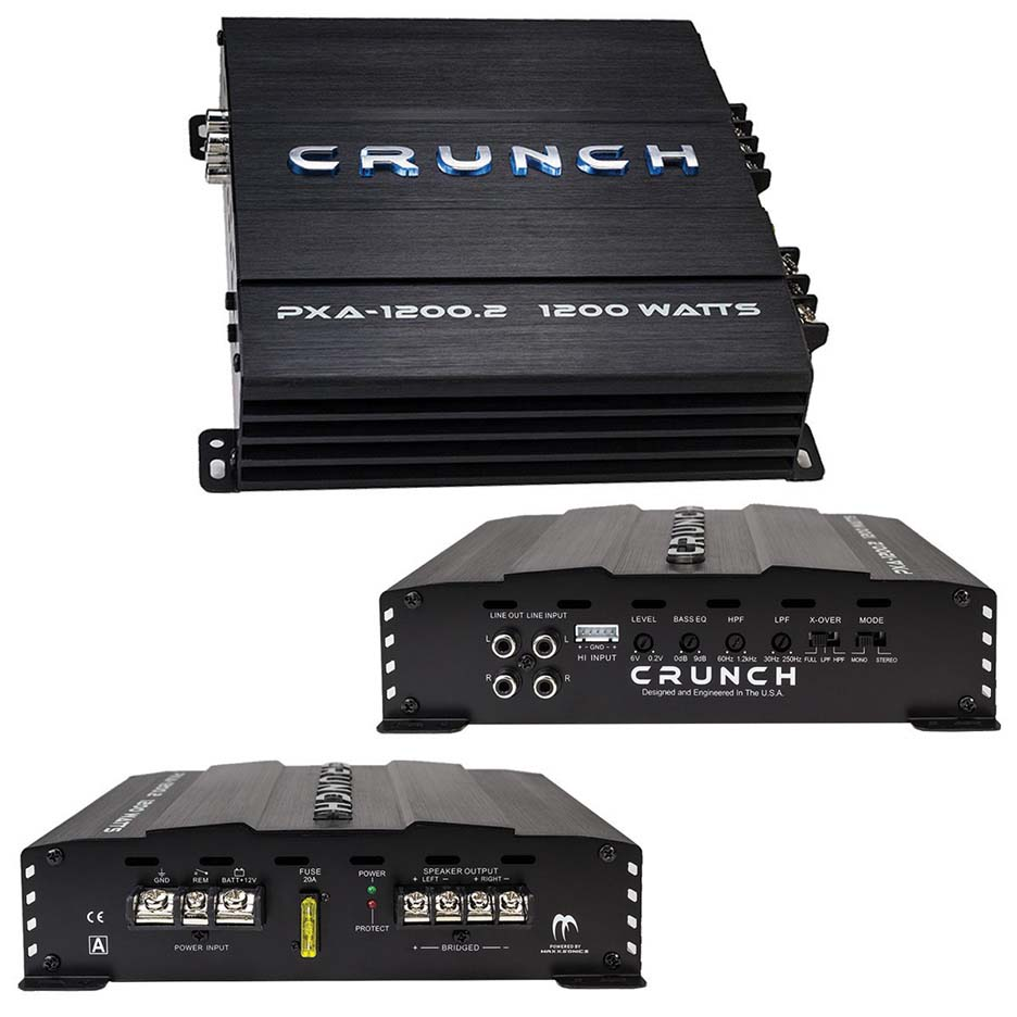 Crunch Amp 1200 Watt 2 Channel Amplifier