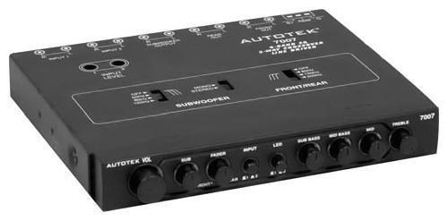AUTOTEK 7007 Half-DIN 4-Band 2-Way Equalizer/Crossover