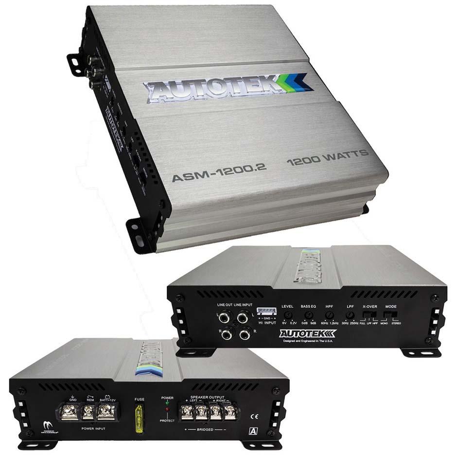 Autotek Amp 1200 Watt 2 Channel Amplifier