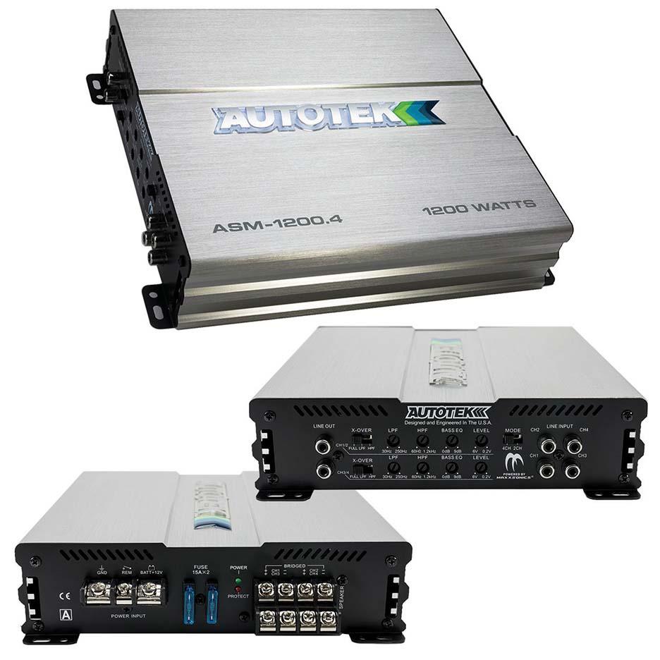 Autotek Amp  1200 Watt 4 Channel Amplifier