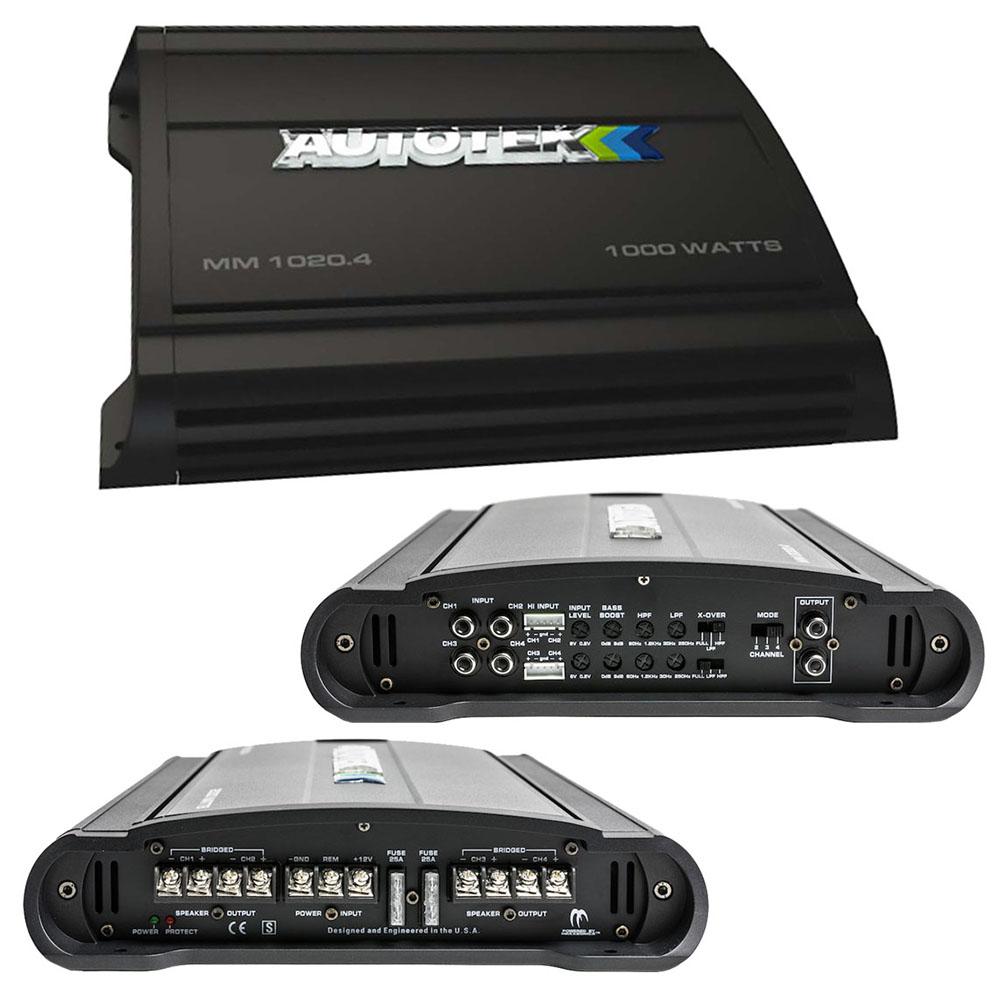 Autotek Mean Machine Amplifier 1000 Watts \ 4 Channel