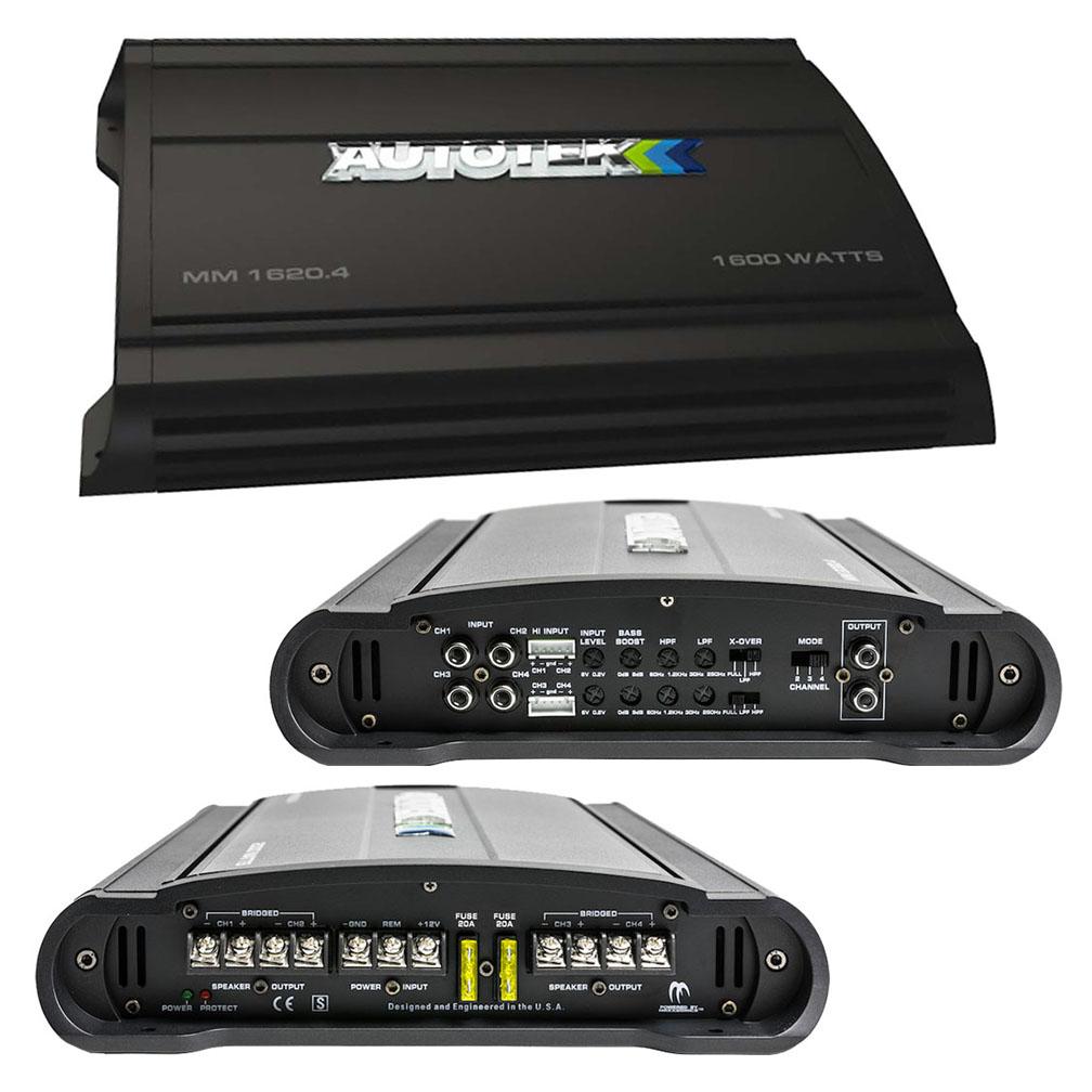 Autotek Mean Machine Amplifier 1600 Watts  4 Channel