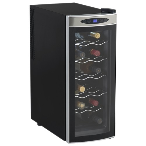 AVANTI EWC1201 BLACK WINE COOLER 12 BOTTLE THERMOELECTRIC