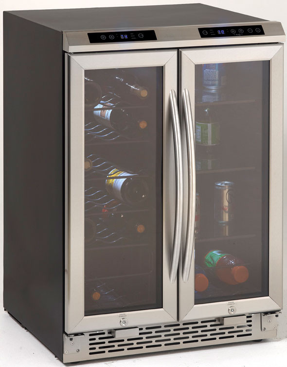 Avanti Wbv19Dz Black 19Bottle Wine Chiller Cooler French
