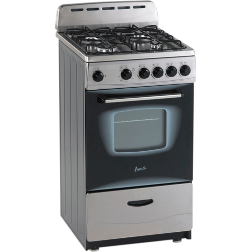 AVANTI  GR2013CSS STAINLESS STEEL 20 INCH GAS RANGE WITH