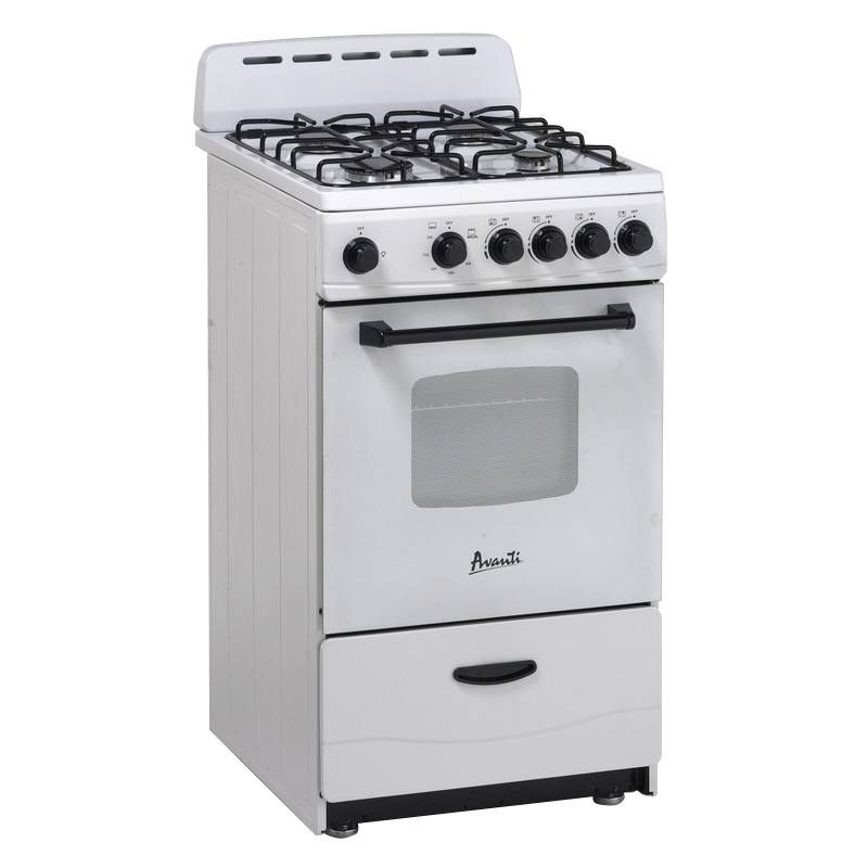 AVANTI GR2011CW WHITE GAS RANGE 20 INCH WITH SEALED BURNER
