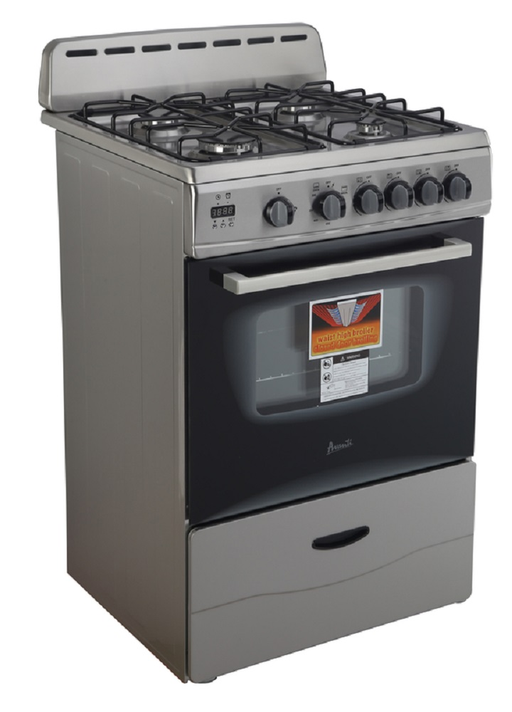 "AVANTI GR2416CSS FREE STANDING GAS RANGE 24"" SEALED BURNERS"