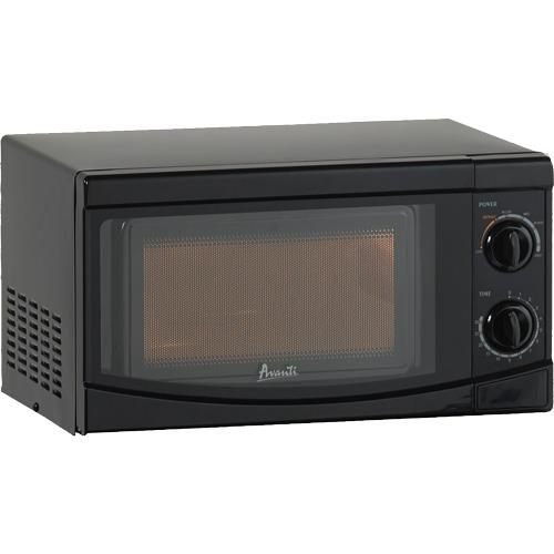 AVANTI MM07V1B BLACK MICROWAVE OVEN WITH ROTARY KNOB