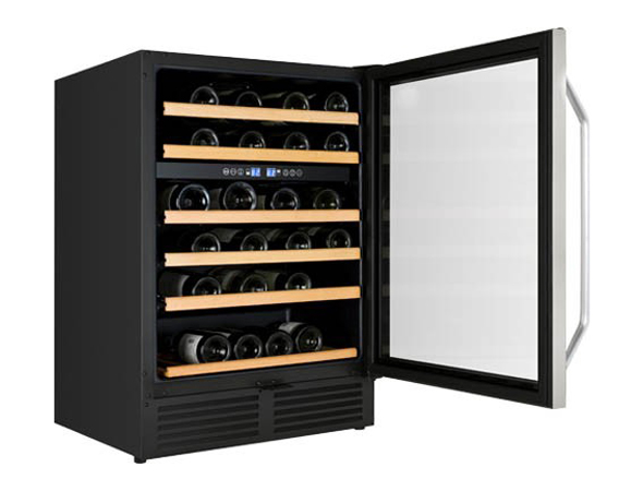 AVANTI WCR496DS BLACK 24IN BUILT IN DUAL ZONE WINE CHILLER