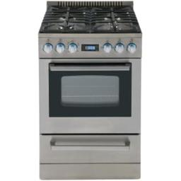 AVANTI DGR24P3S STAINLESS STEEL 24IN DELUX GAS RANGE BAKE