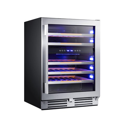 AVANTI WWCDE46R3S ELITE 46 BOTTLE DUAL ZONE WINE CHILLER WITH