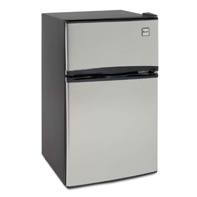 Counter-Height 3.1 Cu. Ft Two-Door Refrigerator/Freezer, Black/Stainless Steel