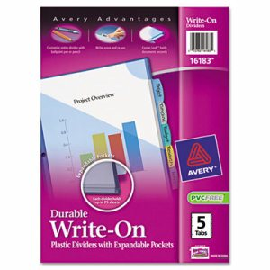 Write-On Big Tab Plastic Dividers, 8-Tab, Letter