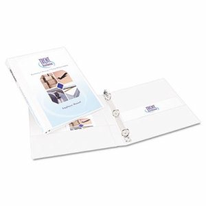 "Durable View Binder w/Slant Rings, 11 x 8 1/2, 1/2"" Cap, White"