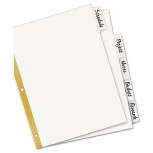 Write & Erase Big Tab Paper Dividers, 5-Tab, Letter