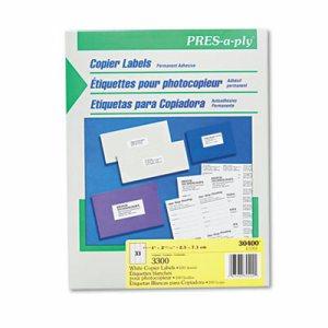White Copier Address Labels, 1 x 2 13/16, 3300/Box