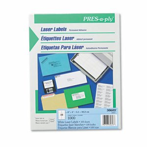 Laser Shipping Labels, 2 x 4, White, 1000/Box