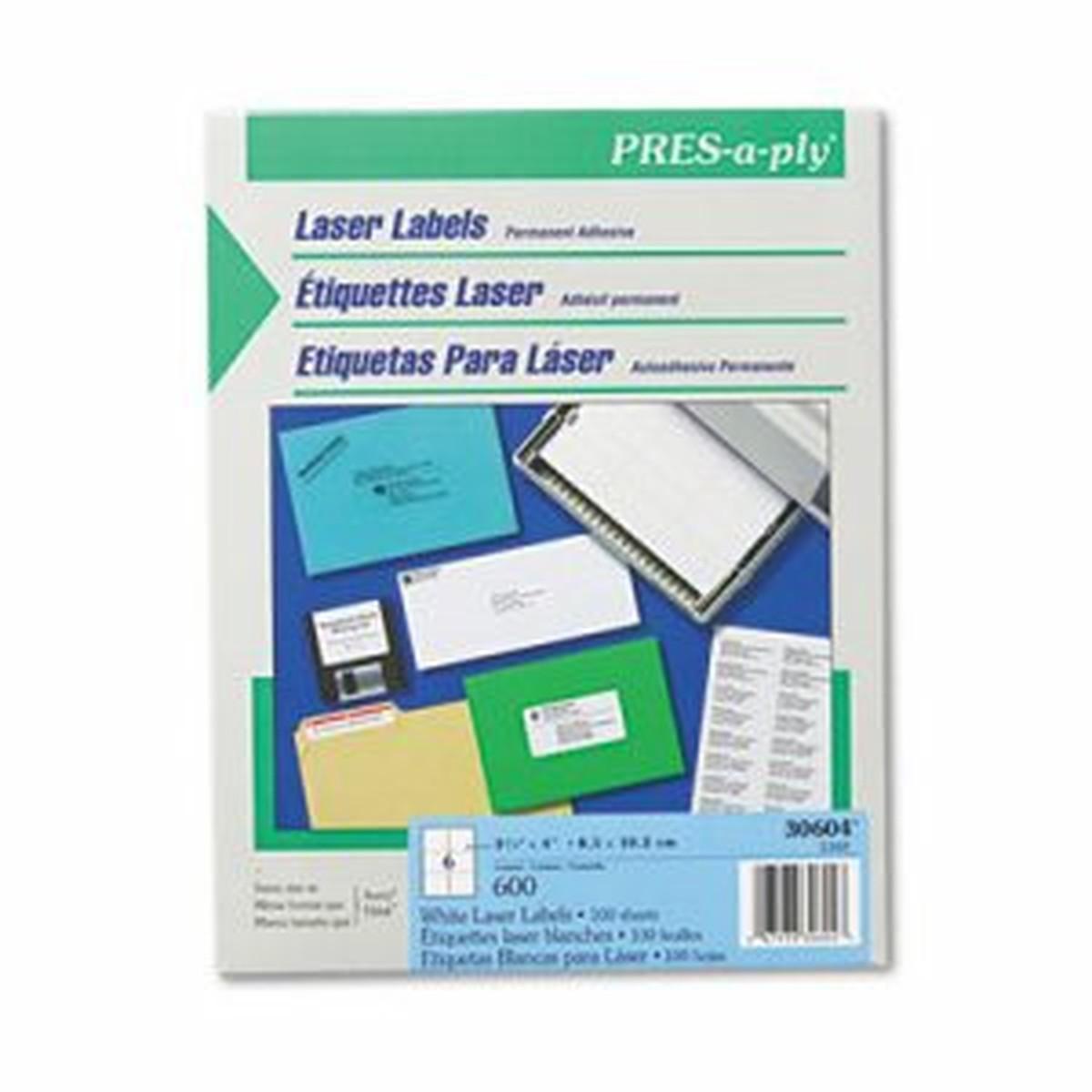 Laser Shipping Labels, 3 1/3 x 4, White, 600/Box