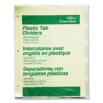Plastic Insertable Dividers, 5-Tab, Letter