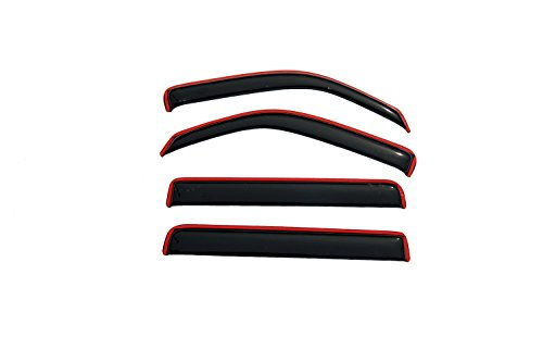 Auto Vent Shade InChannel Ventvisor Side Window Deflector 4Pc Set for 2007-2011 Dodge Nitro