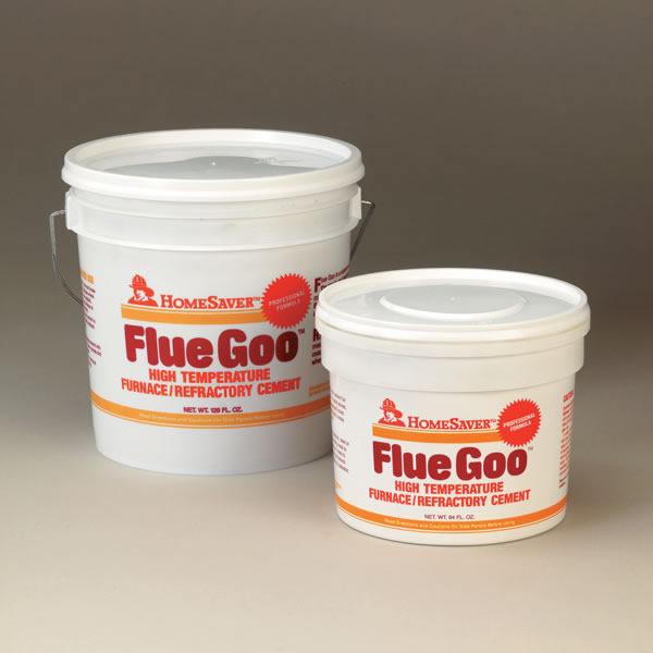 1 Gallon Tub Black HomeSaver Pre-Mixed Flue Goo Furnace / Refractory Cement