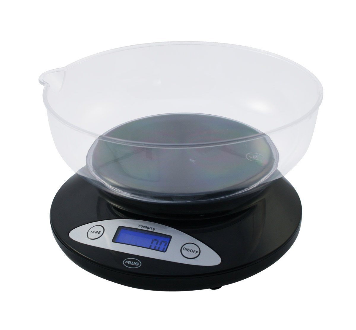 American Weigh Scales 5KBowl-BK Digital Kitchen Scale with Removable Bowl Black