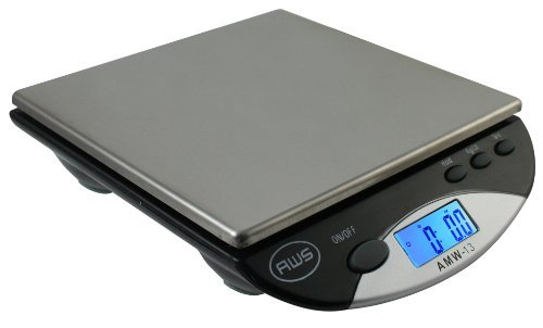 American Weigh Scales AMW-500I-BLK Compact Bench Scale 500 by 0.1 G