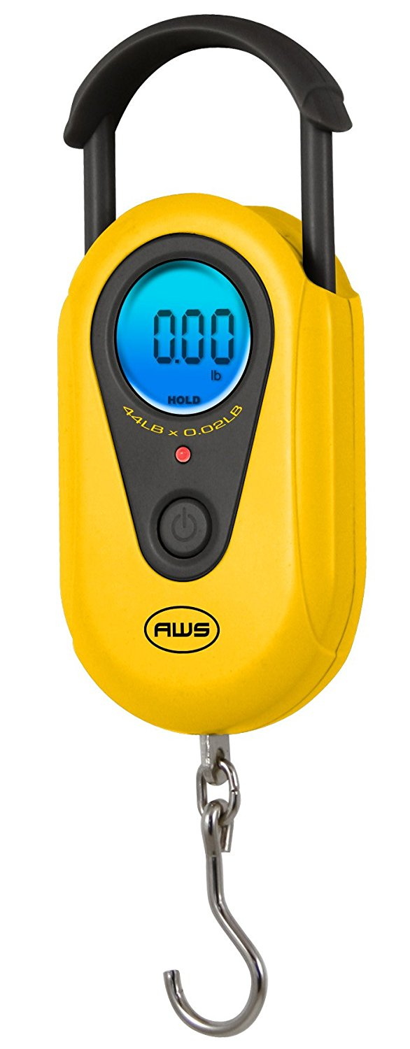 American Weigh Scales AMW-SR-20 Yellow Digital HanGinG Scale 44lb by 0.02 LB