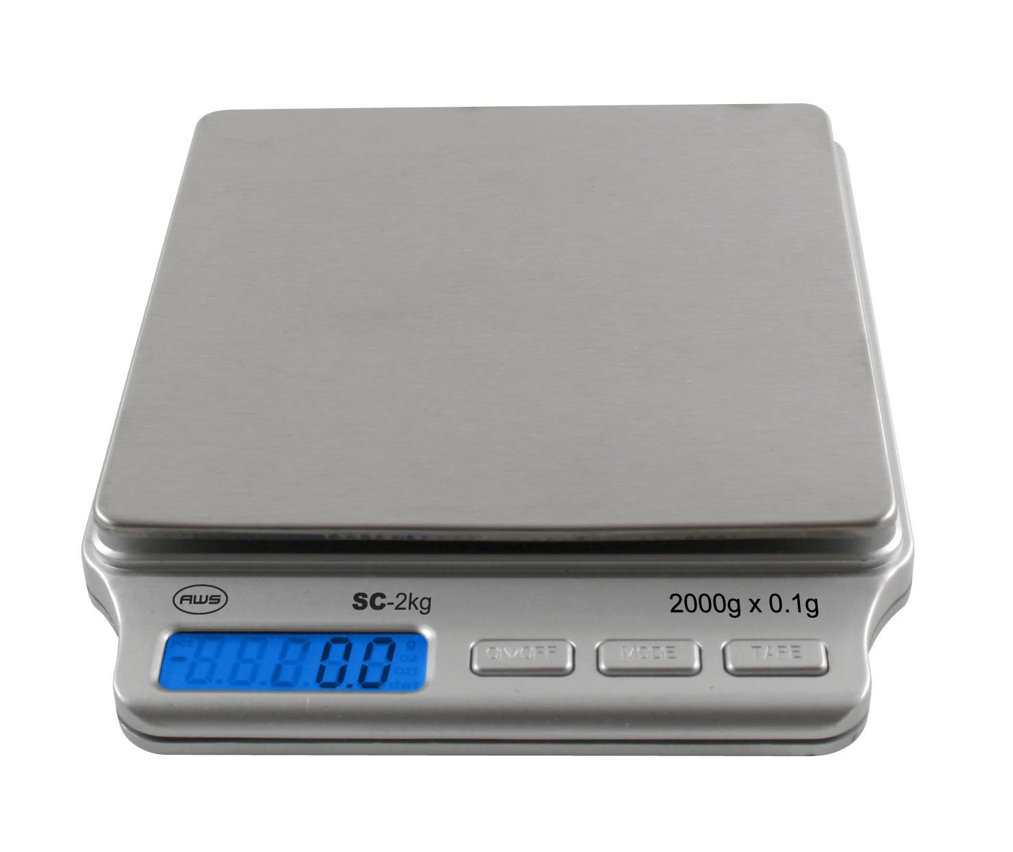 AWS SC-2KGA Digital Pocket Scale 2000 Gram x 0.1 Gram AC Adapter American Weigh Scales