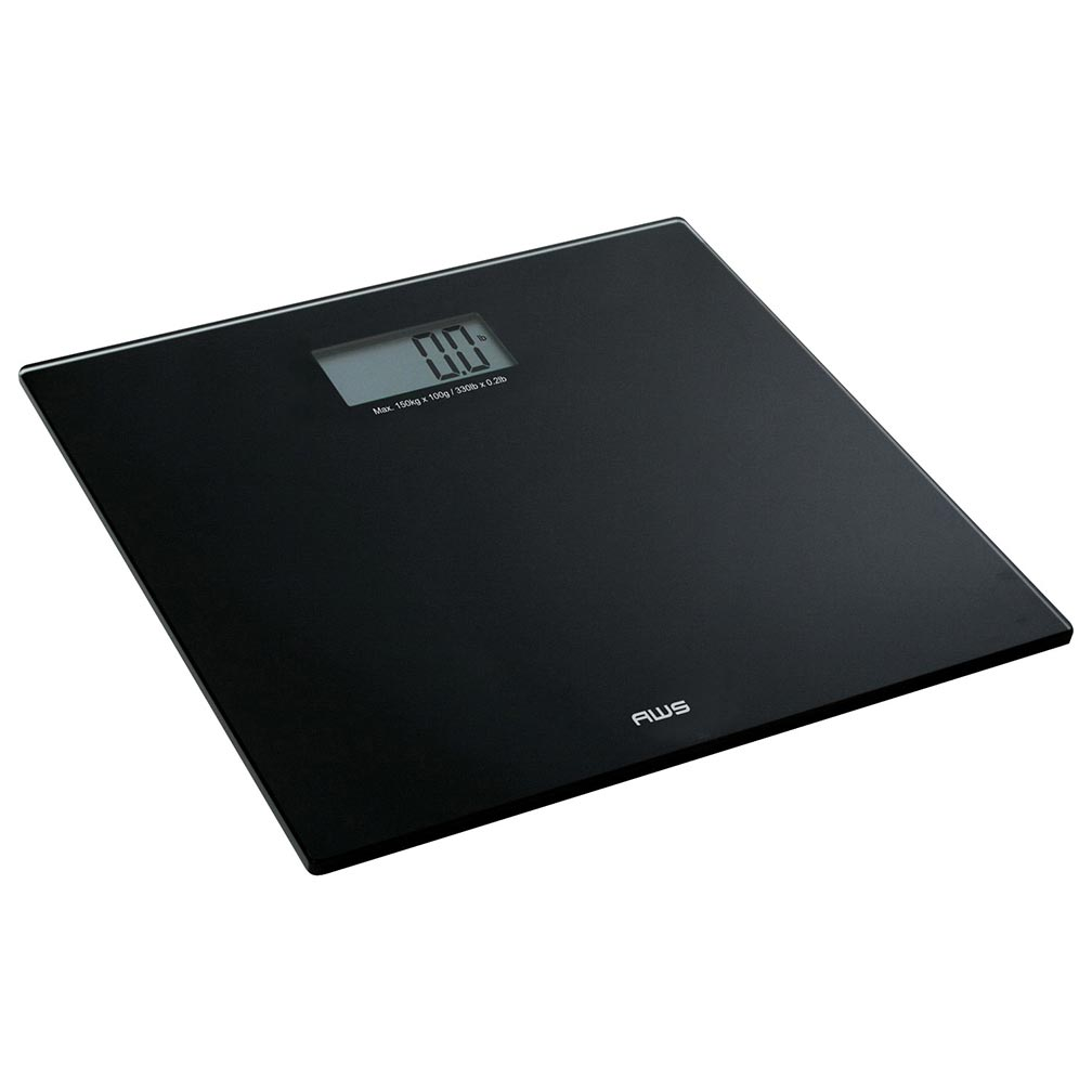American Weigh Scales CVS Series Talking Precision Bathroom Weight Scale Black 220lbs
