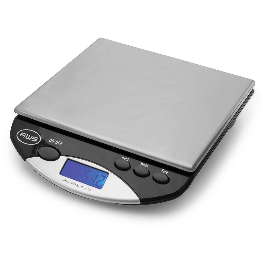 American Weigh Scales AMW Series Precision Digital Kitchen Scale Stainless Steel 1000G x 0.1G