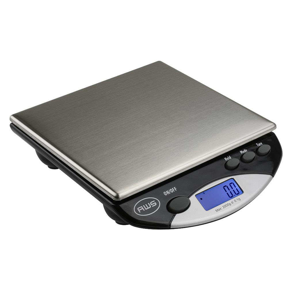 American Weigh Scales AMW Series Precision Digital Kitchen Scale Stainless Steel 2000G x 0.1G