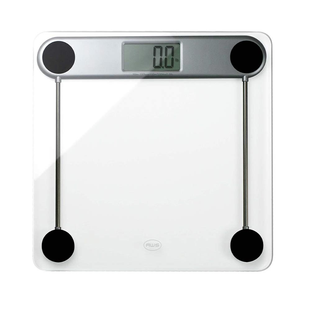 American Weigh Scales LPG Series Precision Digital Body Weight Bathroom Scale Glass 330lbs
