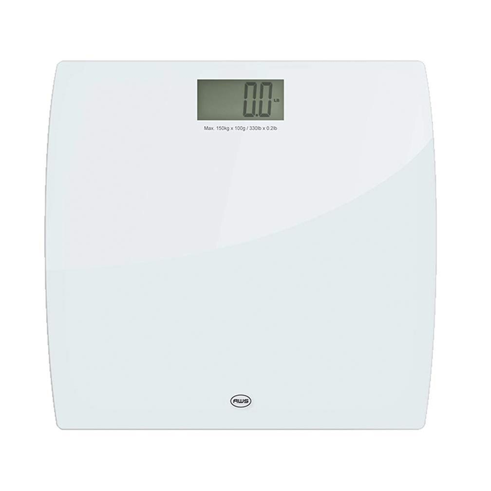 American Weigh Scales LPW Series Precision Digital Body Weight Bathroom Scale White Glass 330lbs