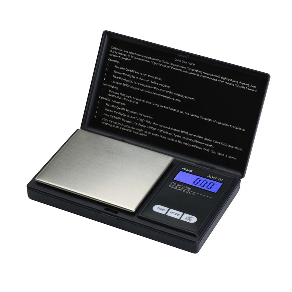 American Weigh Scales SIGNATURE SERIES 70G X 0.01G BLACK