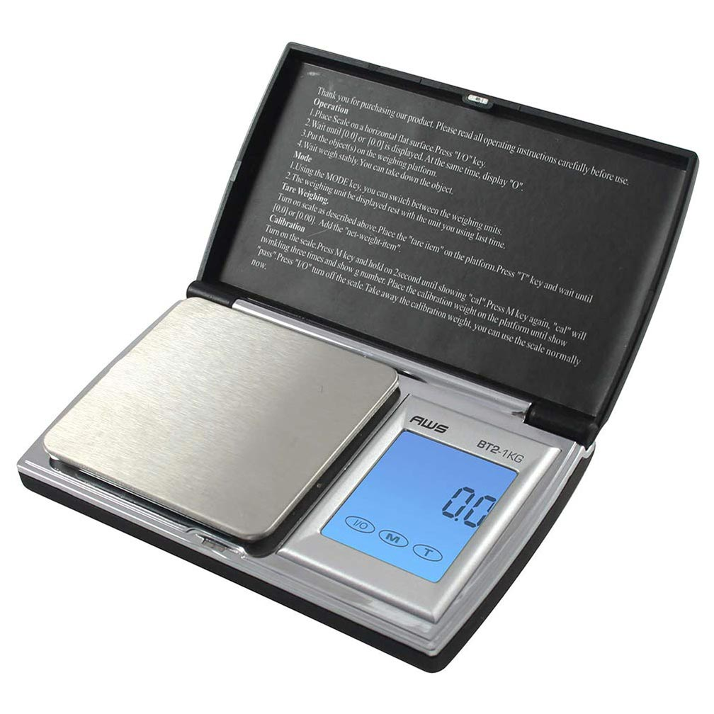 American Weigh Scales BT2 Series Digital Gram Pocket Weight Scale Black 1000 X 0.1G