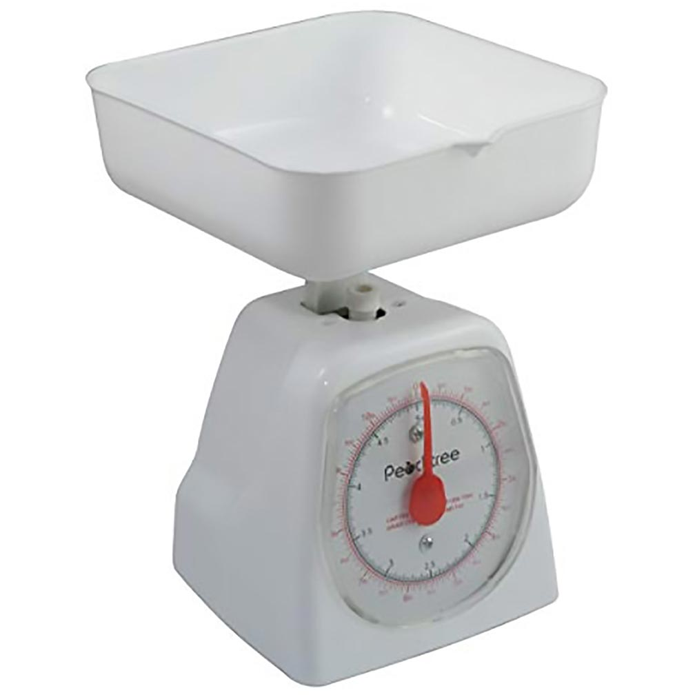 American Weigh Scales Peachtree Series Precise Mechanical Kitchen Scale White 5000G