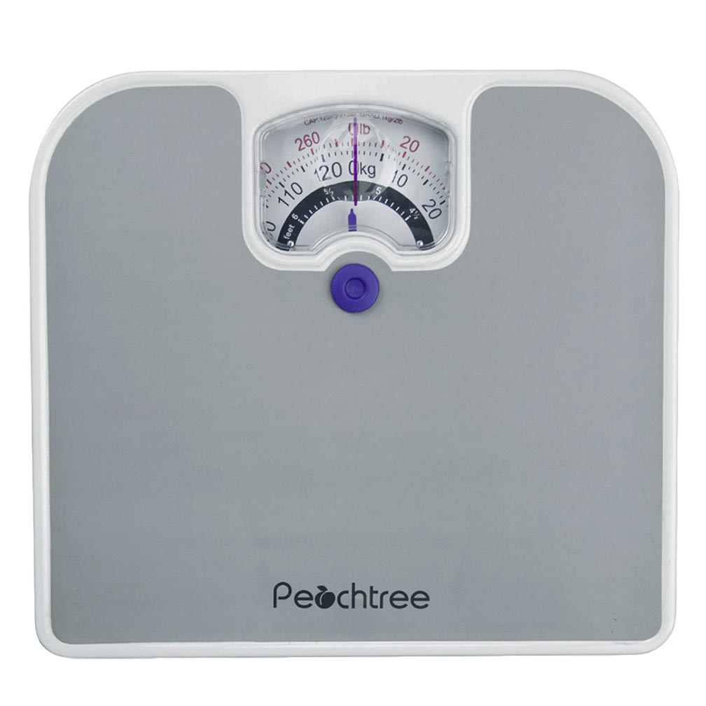 American Weigh Scales Peachtee Series MB-125 Mechanical Bathroom Scale 275-Pound Capacity Grey
