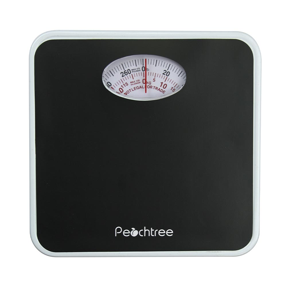 American Weigh Scales Peachtree Audio RB Series Mechanical Bathroom Weight Scale Black 275lb