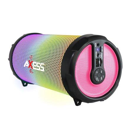 AXESS SPBL1044PK PINK LED BLUETOOTH MEDIA SPEAKER WITH FM