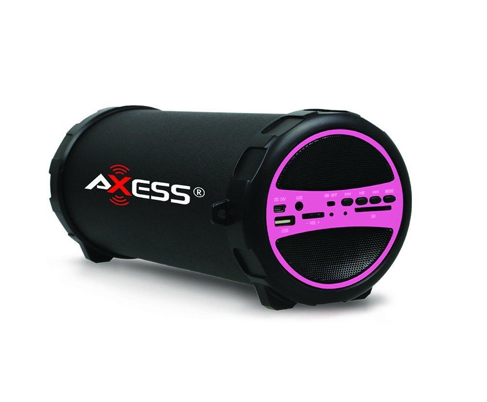 AXESS SPBT1031PK PINK BLUETOOTH MEDIA SPEAKER WITH USB