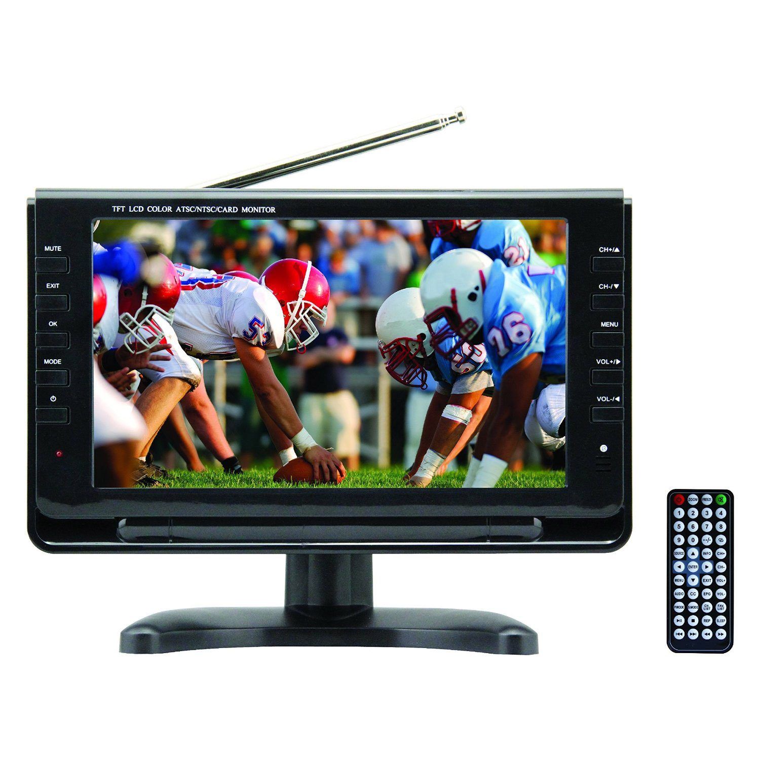 AXESS TV17039 PORTABLE 9IN TV WITH RECHARGABLE BATTERY