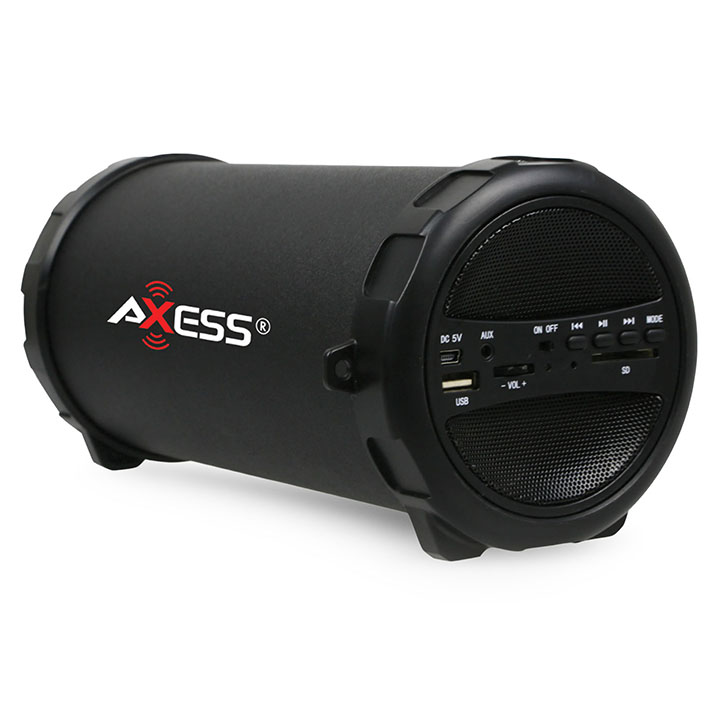 Axess Portable Bluetooth IndoorOutdoor Black with Built-In 3 Inch Sub