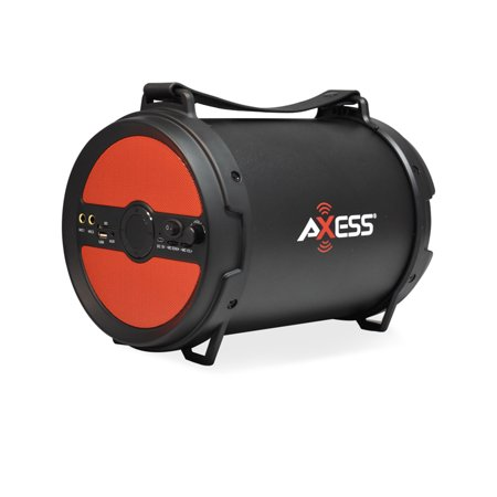 AXESS Portable Bluetooth 2.1 Hi-Fi Cylinder Loud Speaker Built-In 6